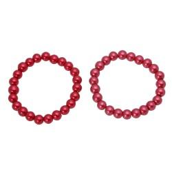 браслет на руку под жемчуг красного цвета 13007 1