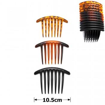 гребень для волос пластиковый матовый 15689 - бижутерия оптом Arkos.