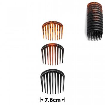 гребень для волос пластиковый матовый 15690 - бижутерия оптом Arkos.
