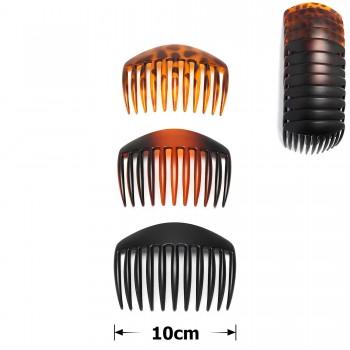 гребень для волос пластиковый матовый 15691 - бижутерия оптом Arkos.