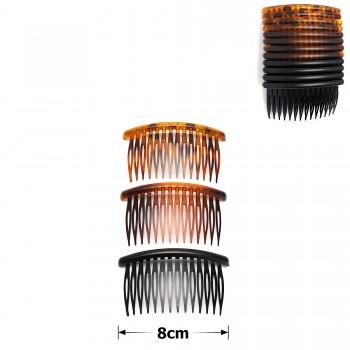 гребень для волос пластиковый матовый 15692 - бижутерия оптом Arkos.
