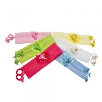 набор детских повязок+резинок+хлопалок с дельфином 1038 - бижутерия оптом Arkos.