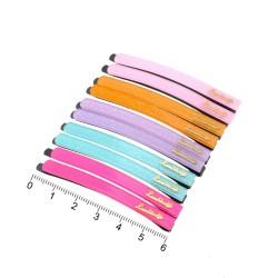 заколки-невидимки для волос с пластиковой накладкой цветные 12106 1