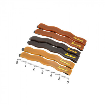 заколки-невидимки для волос с пластиковой волнистой накладкой коричневого цвета 12110 - бижутерия оптом Arkos.
