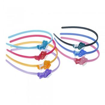 обруч для волос детский пластиковый с украшением 10799 - бижутерия оптом Arkos.
