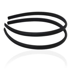 заготовка для обруча с атласной лентой z4 12646 — 0.9cm чёрная 1