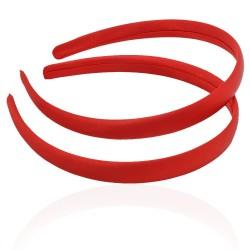 заготовка для обруча с атласной лентой z5 12661 — 1.5cm красная 1