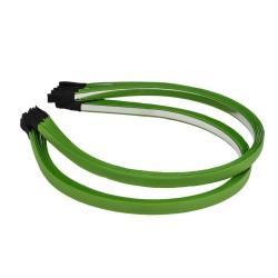 заготовка для обруча с атласной лентой z1 12670 — 0.7cm зелёная 1