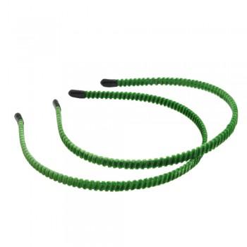 заготовка для обруча велюровая z6 12823 — 0.7cm зелёная - бижутерия оптом Arkos.