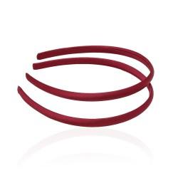 заготовка для обруча с атласной лентой z4 13255 — 0.9cm бордовая 1