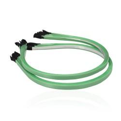 заготовка для обруча с атласной лентой z1 13287 — 0.7cm зелёная 1