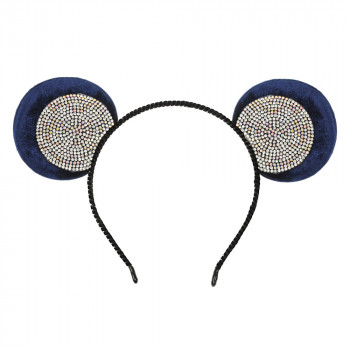 обруч для волос ушки микки-мауса со стразами 13609 - бижутерия оптом Arkos.