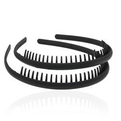 обруч для волос гребень маленький 14597 матовый 1