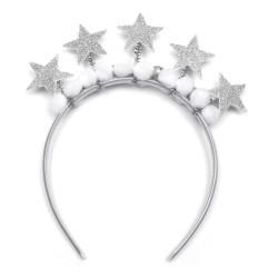 обруч для волос новогодний со звездочками 15562 1