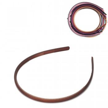 обруч для волос пластиковый — 0.8cm 15681 матовый - бижутерия оптом Arkos.