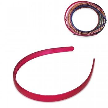 обруч для волос пластиковый — 1.2cm 15682 матовый - бижутерия оптом Arkos.
