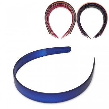 обруч для волос пластиковый — 2cm 15683 матовый - бижутерия оптом Arkos.