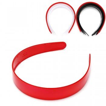обруч для волос пластиковый — 2.5cm 15684 глянцевый - бижутерия оптом Arkos.
