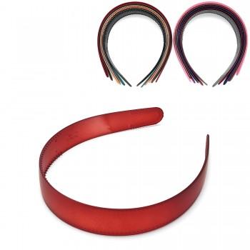обруч для волос пластиковый — 2.5cm 15685 матовый - бижутерия оптом Arkos.
