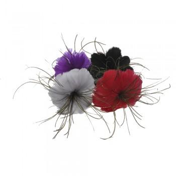 обруч для волос металлический с перьями 8147 - бижутерия оптом Arkos.