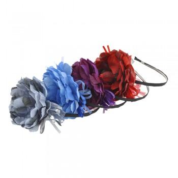 обруч для волос металлический с цветком 8162 - бижутерия оптом Arkos.