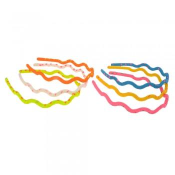 обруч для волос волна с принтом горошек 8197 - бижутерия оптом Arkos.
