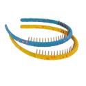 обруч для волос гребень с принтом горошек 8325 3