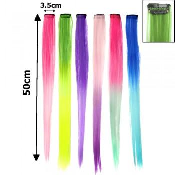пряди волос двухцветные 15280 50см - бижутерия оптом Arkos.