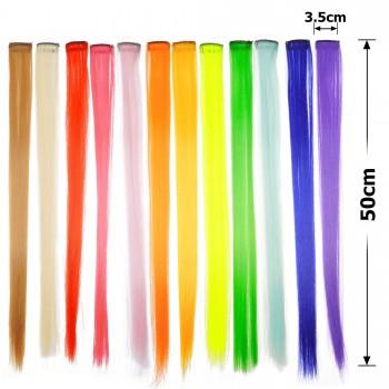 пряди волос однотонные 50см 15716 - бижутерия оптом Arkos.