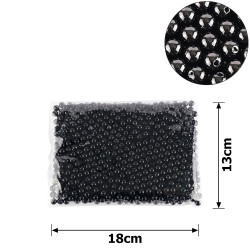 бусины жемчуг заготовка Ø8 мм 250г черный 15765 1