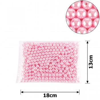 бусины жемчуг заготовка Ø10 мм 250г розовый 15768 - бижутерия оптом Arkos.
