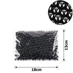 бусины жемчуг заготовка Ø10 мм 250г черный 15770 1