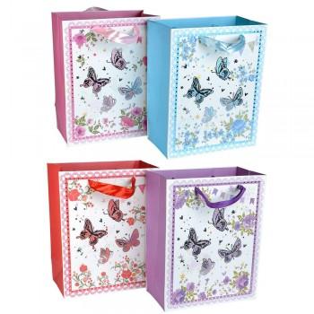 пакеты подарочные картонные 18x23cm 12901 - бижутерия оптом Arkos.