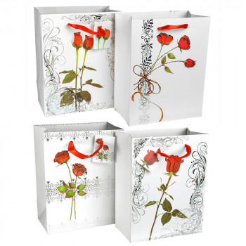 пакеты подарочные картонные 18x23cm 12903 - бижутерия оптом Arkos.