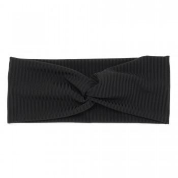 повязка-чалма из трикотажной ткани широкий рубчик 23043 - бижутерия оптом Arkos.