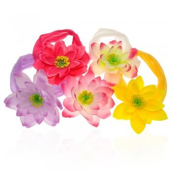 повязка на голову с цветком 4571 - бижутерия оптом Arkos.