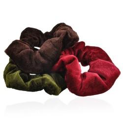 резинка для волос велюровая 90-1319 цветная 1