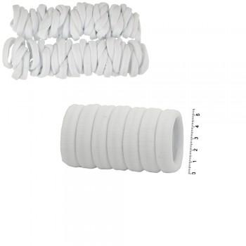 резинка для волос микрофибра rkr5.1 белая в пакете 15226 - бижутерия оптом Arkos.