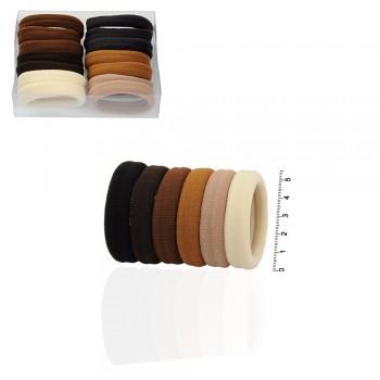 резинка для волос микрофибра rkr5.1 коричневая в коробочке 15228 - бижутерия оптом Arkos.