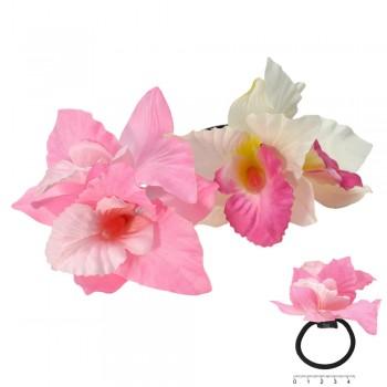резинка для волос ft 5861 цветок орхидея - бижутерия оптом Arkos.