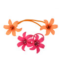 резинка для волос тонкая для детей с цветком 6439 3