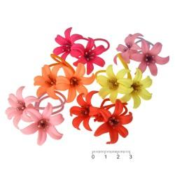 резинка для волос тонкая для детей с цветком 6439 1
