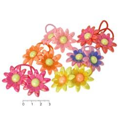 резинка для волос тонкая для детей с цветком 6446 1