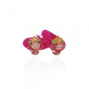 детская резинка для волос k01 833 девочка с цветочком - бижутерия оптом Arkos.