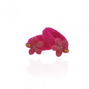 детская резинка для волос k01 836 цветок - бижутерия оптом Arkos.