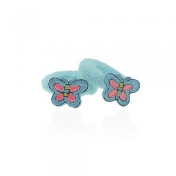 детская резинка для волос k01 838 бабочка - бижутерия оптом Arkos.