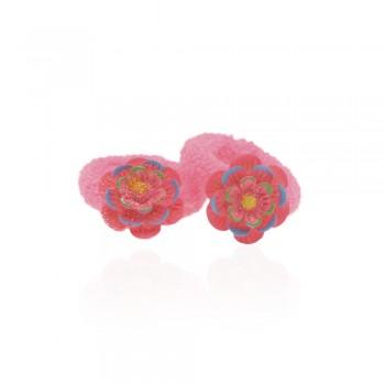 детская резинка для волос k01 840 цветок - бижутерия оптом Arkos.