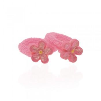 детская резинка для волос k01 845 цветок - бижутерия оптом Arkos.