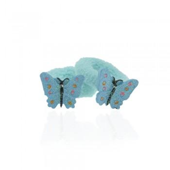 детская резинка для волос k01 847 бабочка - бижутерия оптом Arkos.