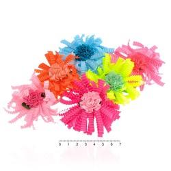 резинка для волос тонкая для детей с цветком 9797 1